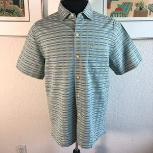 Tommy Bahama Silk Cotton Blend Button Shirt Size M
